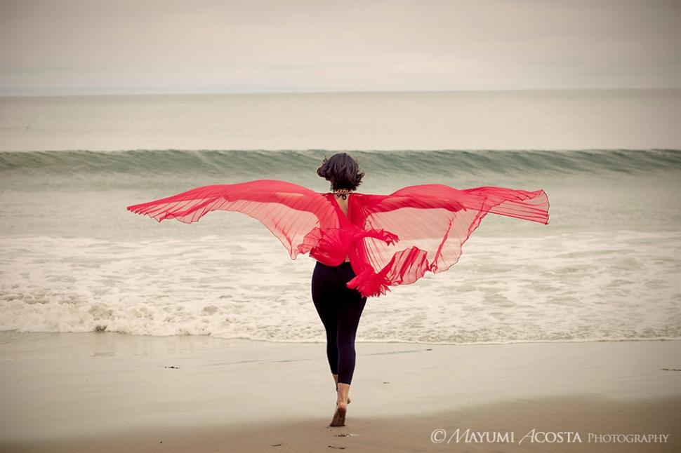 Fine Art Portrait with Red Wings-03-Photographer Davis Ca