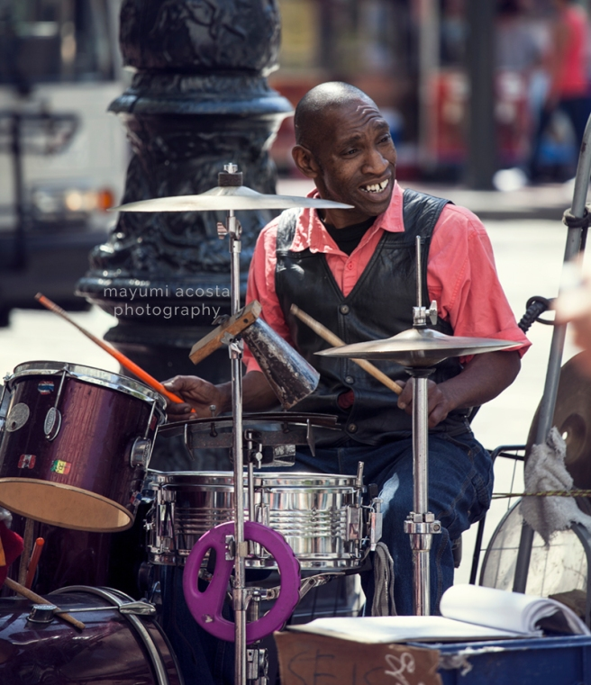 Street Photography, Sacramento Portrait Photographer, San francisco Street Photography, Golden Gate Photography, Life in San Francisco, Drummer of Market Street