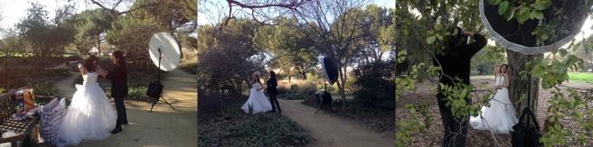 Behind the scenes, photo shooting, Mayumi Acosta Photography, Sacramento Photographer, UC Davis Arboretum