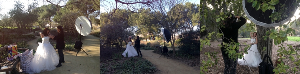 Behind the scenes, photo shooting, Mayumi Acosta Photography, Sacramento Photographer, UC Davis Arboretum
